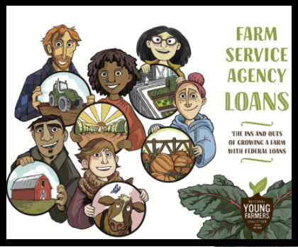 The cover for the National Young Farmers Coalition's Farm Service Agency Guidebook for young farmers and ranchers