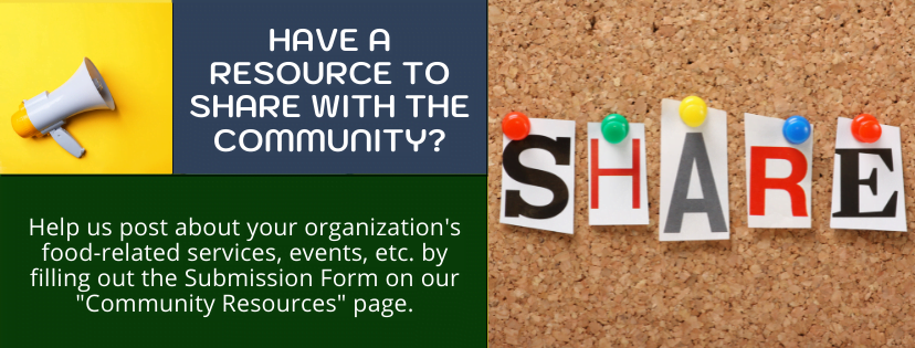 A slide advertising the FSC-GNV website feature allowing community organizations to share resources
