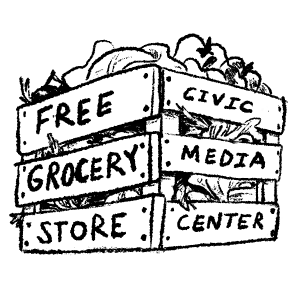 The logo for Gainesville Free Grocery Store at the Civic Media Center