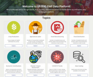 A visual preview of the online EIAP Data Platform landing page
